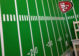 how to paint an nfl football field in your kid u0027s bedroom i love