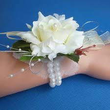 wrist corsages for prom 2018 wedding or prom wrist corsage with pearl bracelet silk