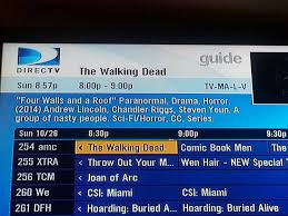 directtv channel guide i guess the walking dead doesn u0027t have fans working at direct tv