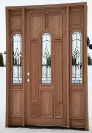 Wooden Exterior Doors For Sale by Custom Wood Door With Sidelights And Fiberglass Insert For Rustic