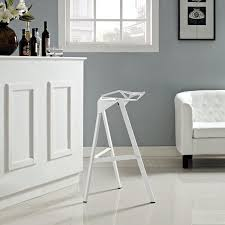 amazon com modway launch bar stool stacking chair white kitchen