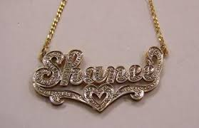 Nameplate Necklace Double Plated Double Plated Name Necklace U2013 Page 3 U2013 Myfancyboutique
