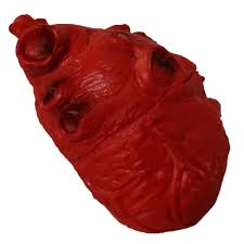 halloween gory props bloody foam heart