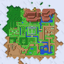 Map Of Hyrule The Legend Of Zelda A Link To Past Map Acrylic Blocks By For