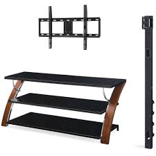 tv stands for 55 inch flat screens whalen brown cherry 3 in 1 flat panel tv stand for tvs up to 65