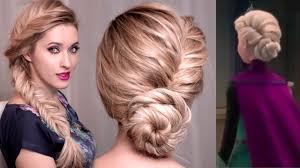 frozen u0027s elsa hairstyle tutorial for long hair updo braid