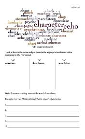 ch pronunciation worksheet eslflow