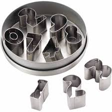 halloween fondant cutters cake boss decorating tools 9 piece stainless steel number fondant