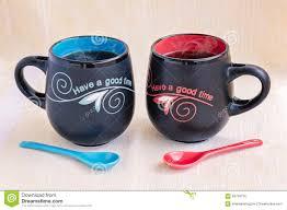 His And Her Mug His And Her Mugs Of Tea Stock Photo Image 58759716