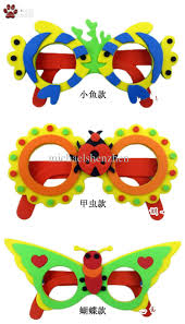 kids diy craft kits eva foam glasses 3d puzzle stickers cartoon