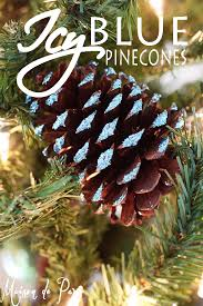 icy blue pinecone ornaments maison de pax