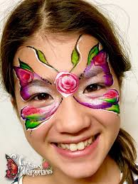 flower butterfly painting masks butterfly