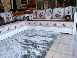 Housse Salon Marocain Pas Cher by Salon Marocain Blanc Tissu Simple