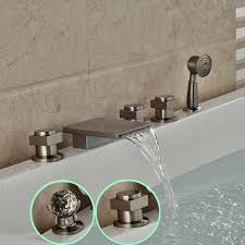 pull out bathtub faucet waterfall faucets for tubs padlords us