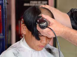 videos of girls barbershop haircuts for 2015 girl barbershop long hair to bald youtube