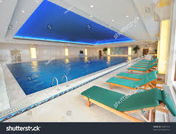 luxury indoor swimming pool beautiful clean stock photo 46487161
