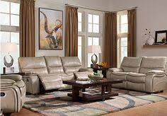 Find Living Room Furniture Shop For A Cindy Crawford Auburn Hills Taupe 3pc Reclining Living