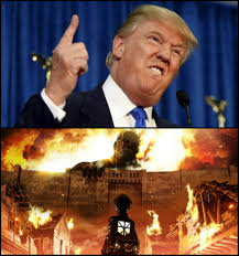 High Quality Meme Generator - donald trump s wall vs attack on titan blank template imgflip