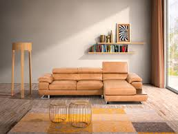 Ital Leather Sofa Estro Salotti Invictus Modern Cognac Italian Leather Sectional