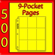 9 pocket pages ultra pro 9 pocket platinum pages 500 usa only 209d 64 75