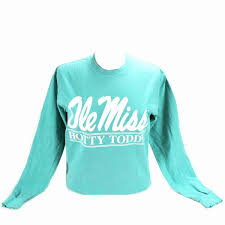 Comfort Colors Chalky Mint Comfort Colors Ole Miss Script Long Sleeve Tee Campus Book Mart