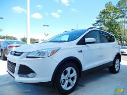 Ford Escape White - 2014 ford escape se 1 6l ecoboost in white platinum a74390 jax