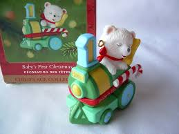 Amazon Com Hallmark Keepsake Ornament Baby U0027s First Christmas