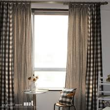 Black And White Checkered Curtains And White Checked Curtains Throughout Black And White Checkered