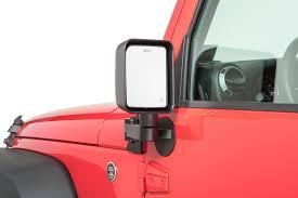 jeep wrangler mirrors quadratec automatic billet aluminum mirror mover pair for 11 18