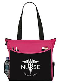 purple nurse bag the art of caring caduceus tote handbag great