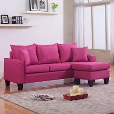 pink leather sectional sofa appealing modern linen fabric small space sectional sofa with