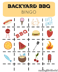 Printable Halloween Bingo Cards by Printable Bbq Picnic Bingo And Invites Making Life Blissful
