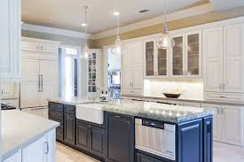 Kitchen Design Concepts Overall Shot Left Side Apron Sink Microwave Drawer Traditional