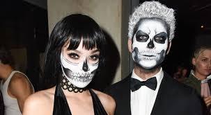treats magazine party halloween hailee steinfeld coordinates skull makeup with cameron smoller at