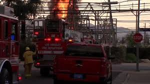 lexus service department woodland hills fire explosion at ladwp facility leaves 94k without power in san