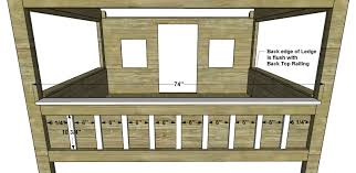 Diy Furniture Plans by Free Diy Furniture Plans How To Build A Full Sized Cabin Loft