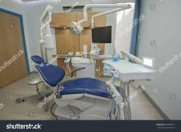 interior design of dentist surgery room in medical clinic with