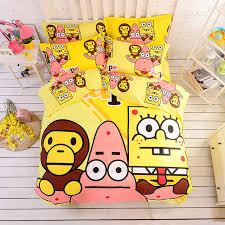 Spongebob Bedding Sets 100 Cotton A Bathing Bape Spongebob Bedding Set