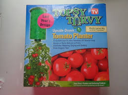 Upside Down Tomato Planter by As Seen On Tv Topsy Turvy Upside Down Tomato Planter Ebay