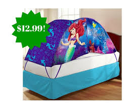 bed tent with light amazon disney ariel bed tent with push light twin toy only 12 99