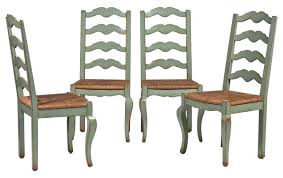 set of 4 ladderback chairs from woodland furniture 6 400 est
