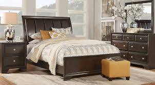 bedroom design chestnut park merlot 5 pc king sleigh bedroom