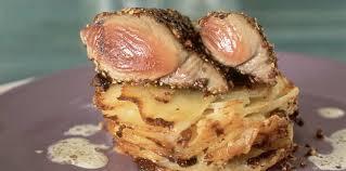 gratin dauphinois herv cuisine steak de thon au poivre gratin dauphinois recette sur cuisine