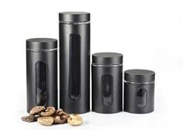 black kitchen canisters decorative kitchen canisters sets foter