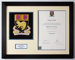 certificate frame lse degree certificate frame