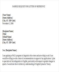 9 sample recommendation request letter free sample example