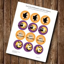 free printable halloween cupcake toppers halloween cupcake toppers free printable u2013 justlola