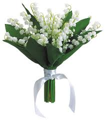 Artificial Lilies In Vase Silk Plants Direct Lily Of The Valley Bouquet Pack Of 6