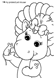 baby bop coloring pages getcoloringpages com