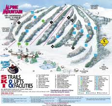 Utah Ski Resort Map by Alpine Mountain Trail Map Liftopia